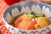 塩鮭と水菜の煮物