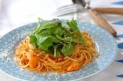 白身魚のトマトパスタ