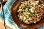 納豆と香菜の炒飯