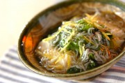 小松菜と豆腐のシラスあんかけ