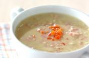 エノキ入りコーンスープ