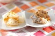 たたきレンコンと長芋の素揚げ