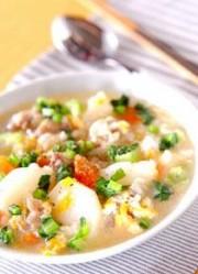 牛すじ・塩コショウ味のスープ
