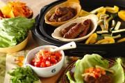 シシカバブと焼き野菜の菜包み