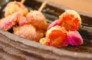 串カツ・プチトマトと紅ショウガ