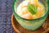 白桃とヨーグルト