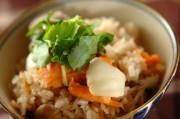 鮭とユリネの炊き込みご飯