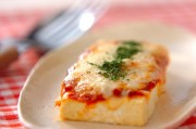 豆腐のピザ