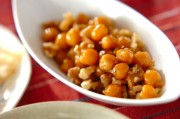 ヒヨコ豆のメープル煮