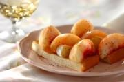 桃とカマンベールチーズのスティックオープンサンド