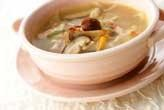 キノコたっぷりのスープ