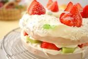 バウムクーヘンでケーキ