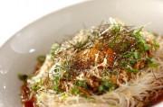 オクラ納豆素麺