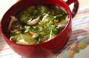 レタスとシイタケのスープ