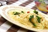 菜の花のスパゲティ