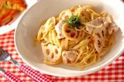 レンコンと鶏の梅スパゲティー