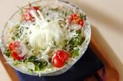 香味野菜とジャコのサラダ