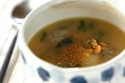 イワシつみれと納豆のみそスープ煮