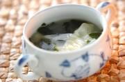餅入りワンタンスープ