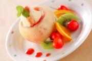 まるごと桃のアイス詰め