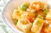 豆腐とエビの塩炒め