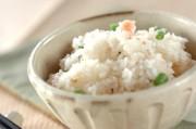インゲンとタラコの混ぜご飯