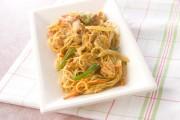 素麺のカレー炒め