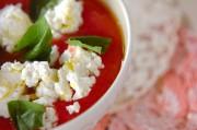 トマトとチーズのスープ