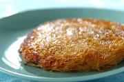 ネギ豚と素麺のペタンコ焼き