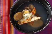 アサリと白ネギのスープ