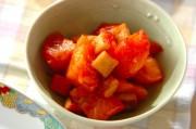 トマトとカニカマの炒め物