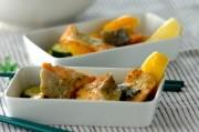 レンジで簡単サーモンと夏野菜のバジル蒸し