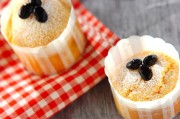大豆粉と黒豆のケーキ