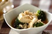 ブロッコリーと豆腐のサッと煮