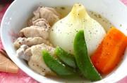 鶏肉と新玉ネギのスープ煮