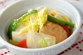 白菜と鶏肉のサッと炒め