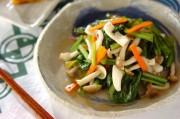 イカと小松菜の炒め物