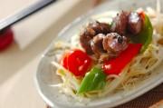 砂肝と野菜の塩炒め