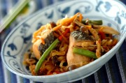 下味冷凍で鮭と切干し大根の炒め煮