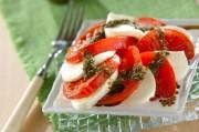焼きトマトのカプレーゼ
