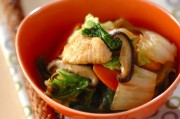 鶏肉と白菜の炒め物
