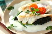 お魚のムニエル・白いソース