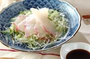 鯛のサラダ風お造り
