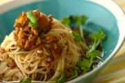 ナスとひき肉のジャージャー麺風素麺