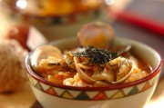 アサリとキムチのスープご飯
