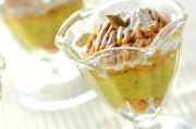 カボチャのモンブランクリームパフェ
