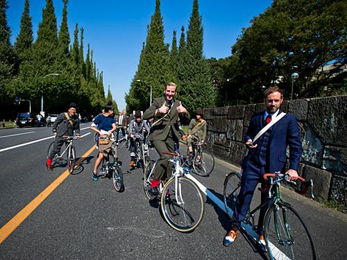 ツイード&自転車で東京を駆け抜ける、「ツイードラン 東京2014」開催