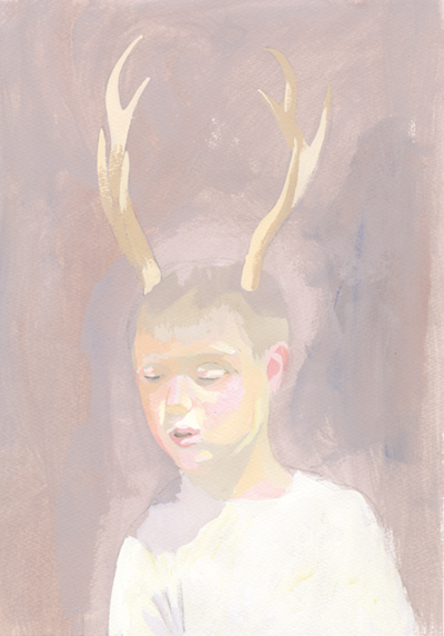『角の生えたの少年』「思春期、自我なんかにも目覚め、無邪気なだけじゃない部分が出てきたり葛藤があると思うんです。その葛藤を描きたかった」