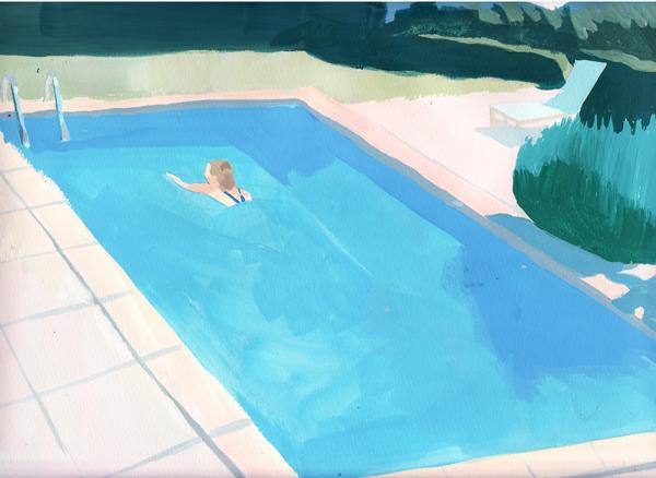 『pool』珍しく明るい色彩。なのにどこかせつない。「恋をしていた時期だったので反映されちゃったのかも(笑)。楽しいことも、苦しかったり悲しかったりすることもすごくあったので、やはりせつなさみたいなものはありますね」