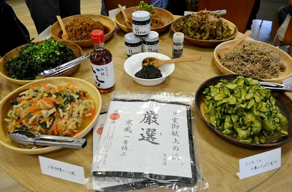 新米食べ比べイベント(ごはん生活研究所主催)で用意された「めしのとも」